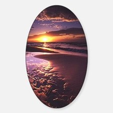 Purple Sunset Oval Decal
