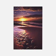 Purple Sunset Rectangle Magnet