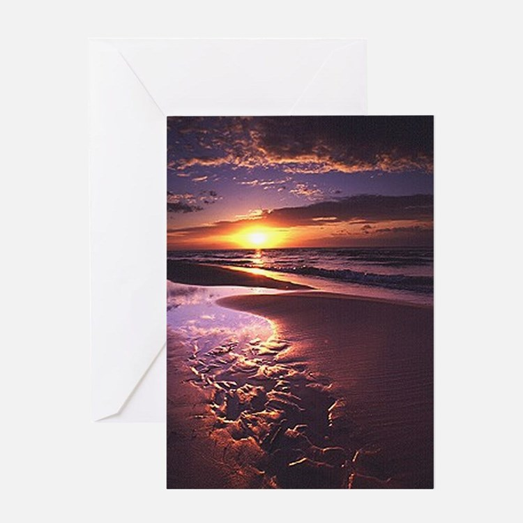 Purple Sunset Greeting Card