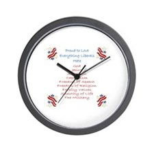 Proud to love... liberals hate Wall Clock