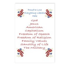 Proud to love.. liberals hate Postcards (Package o