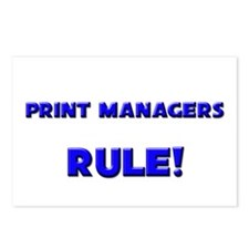 Print Managers Rule! Postcards (Package of 8)