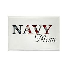 Navy Mom (Flag) Rectangle Magnet