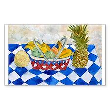 still life fruit basket moder Rectangle Decal