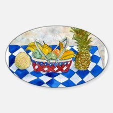 still life fruit basket moder Oval Decal