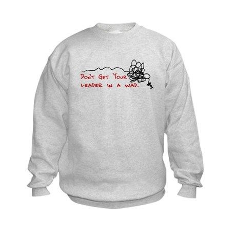 Fly Fishing Leader Kids Sweatshirt