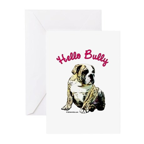 Hello Bully Puppy Greeting Cards (Pk of 10)