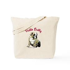 Hello Bully Puppy Tote Bag