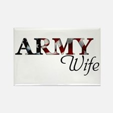 Army Wife (Flag) Rectangle Magnet
