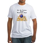 Wed. Mad Flaming Bowling Ball Fitted T-Shirt