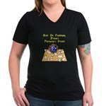 Thursday Mad Flaming Bowling Ball Women's V-Neck D