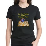 Thursday Mad Flaming Bowling Ball Women's Dark T-S