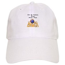 Friday Mad Flaming Bowling Ball Baseball Cap