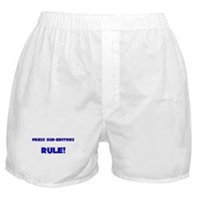 Press Sub-Editors Rule! Boxer Shorts