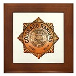 Colorado Rangers Framed Tile