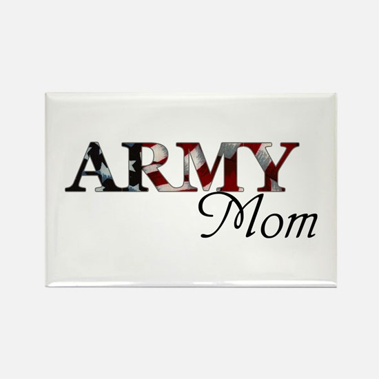 Army Mom (Flag) Rectangle Magnet