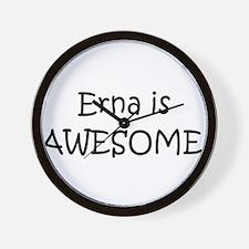 Unique I love erna Wall Clock