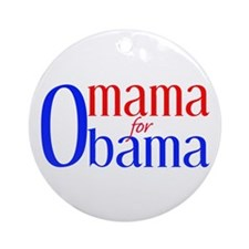 Omama for Obama Ornament (Round)