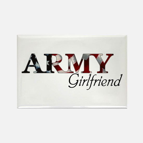 Army Girlfriend (Flag) Rectangle Magnet