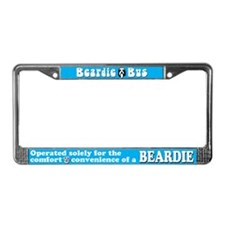 Beardie Bus License Plate Frame in Aqua