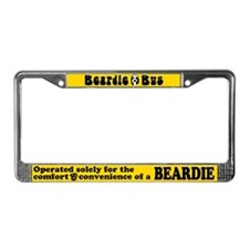 Beardie Bus License Plate Frame in Bright Yellow