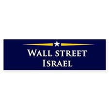 McCain/Palin Wall Street/Israel Bumper Bumper Sticker