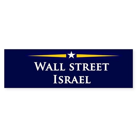 McCain/Palin Wall Street/Israel Bumper Sticker