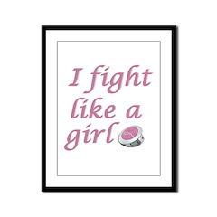 Fight like a girl Framed Panel Print
