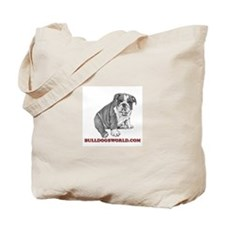 Red Logo Tote Bag