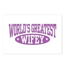 World's Greatest Wifey Postcards (Package of 8)
