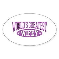 World's Greatest Wifey Oval Decal