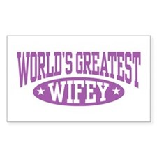 World's Greatest Wifey Rectangle Decal