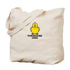 Parasailing Chick Tote Bag