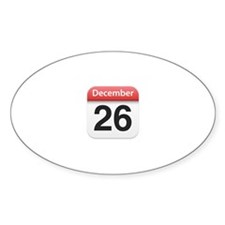 Apple iPhone Calendar December 26 Oval Decal