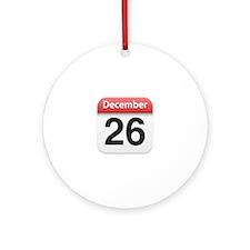 Apple iPhone Calendar December 26 Ornament (Round)