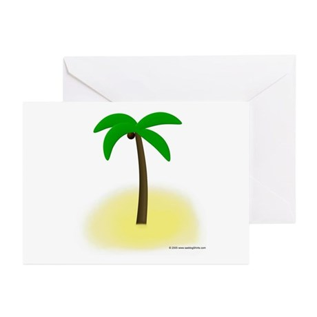 Palm Tree Tropics Greeting Cards (Pk of 10)
