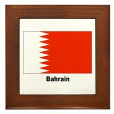 Bahrain Flag Framed Tile