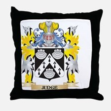 Judge Coat of Arms - Family Crest Throw Pillow
