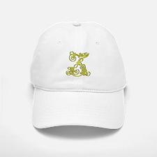 Gold Scroll Z - Baseball Baseball Cap