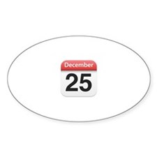 Apple iPhone Calendar December 25 Oval Decal