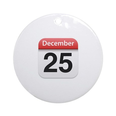 Apple iPhone Calendar December 25 Ornament (Round)