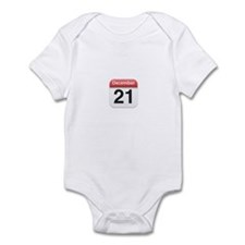 Apple iPhone Calendar December 21 Infant Bodysuit