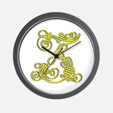 Gold Scroll Z - Wall Clock