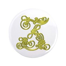 """Gold Scroll Z - 3.5"""" Button (100 pack)"""
