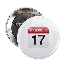 "Apple iPhone Calendar December 17 2.25"" Button"