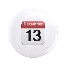 "Apple iPhone Calendar December 13 3.5"" Button"