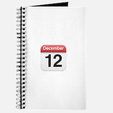 Apple iPhone Calendar December 12 Journal