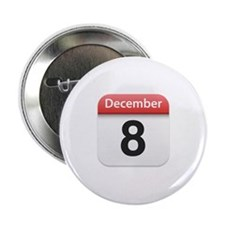 "Apple iPhone Calendar December 8 2.25"" Button"