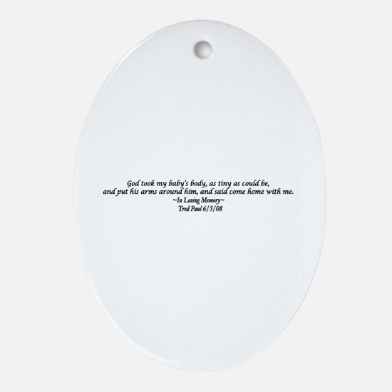 Miscarriage Oval Ornament