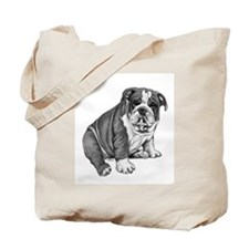 Puppy Drawing Tote Bag